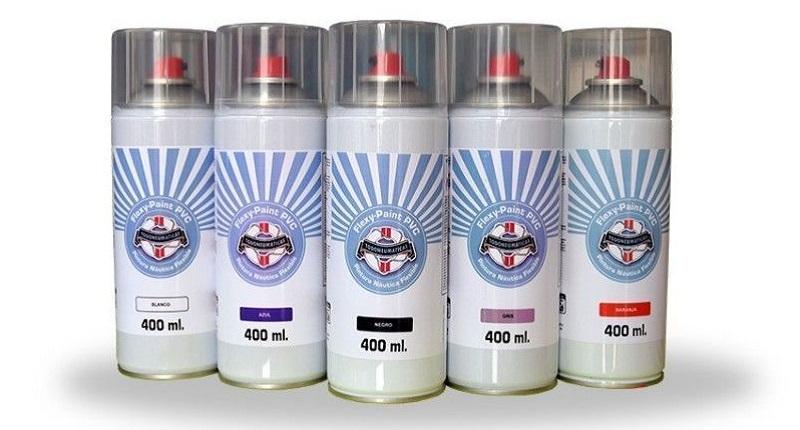 Pintura flexible para PVC en spray