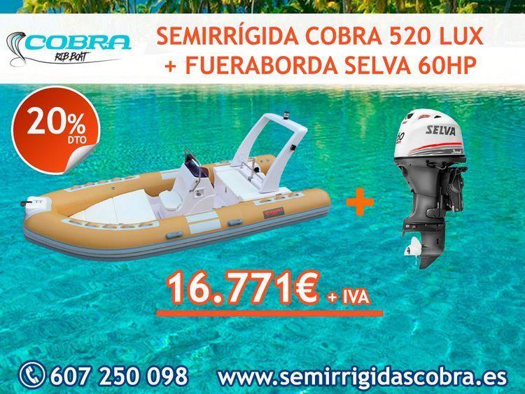 oferta pack cobra 520 lux + motor selva 60hp