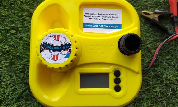 Inflador eléctrico con manómetro digital