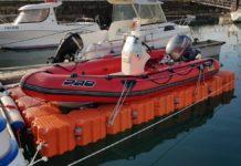 Plataforma flotante para barcos