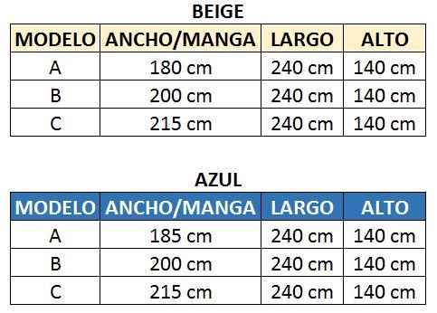 Cómo medir mi embarcación - toldo extra largo